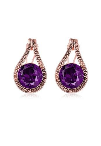 Tiaria pink Tiaria Earrings Aksesoris Anting Lapis Emas AKE082--K09 0DB93AC891017CGS_1