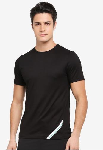 Calvin Klein black Diagonal Print Short Sleeve T-Shirt - Calvin Klein Performance 72FADAA59BE4FFGS_1