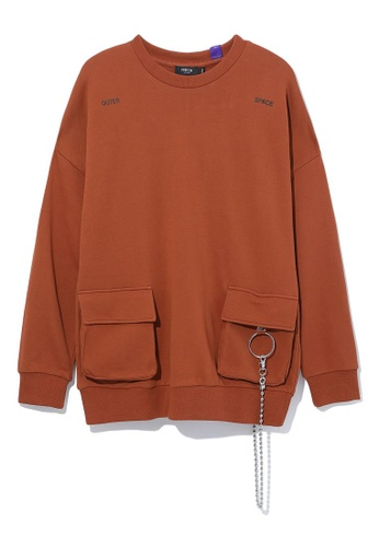 Fivecm brown Outer Space sweatshirt 7F771AA2EE22B2GS_1