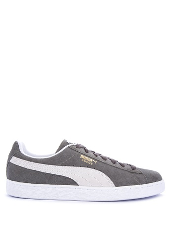 Puma grey and multi Suede Classic Sneakers 1483DSHF43E357GS_1