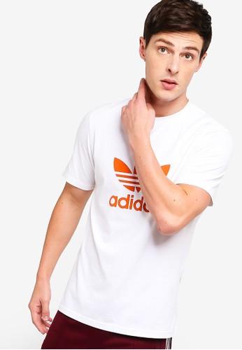 adidas white adidas originals trefoil t-shirt 2F676AA38617F3GS_1