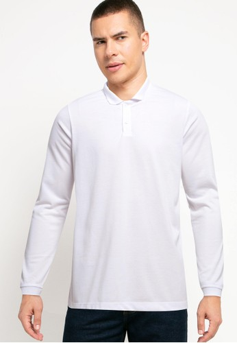 Tolliver white Long Sleeve Polo Shirts AE497AAED3346CGS_1
