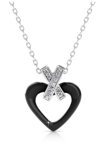 Her Jewellery black Her Jewellery Heart Ceramic Pendant (Black) with Necklace Chain with 18K Gold Plated 83CA6AC2AC90F5GS_1