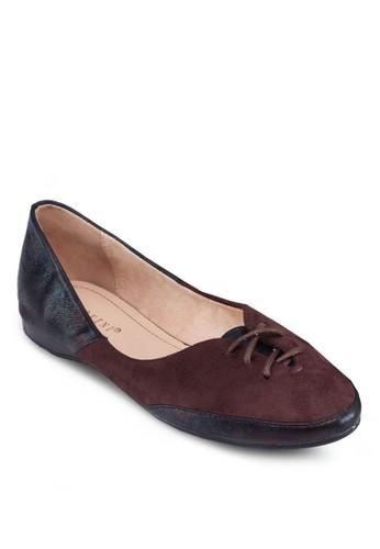 拼接飾帶平底鞋,esprit 尖沙咀 女鞋, 芭蕾平底鞋