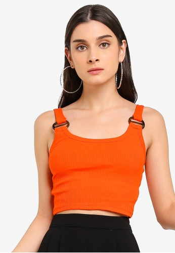 0ebe9a3415 Buy TOPSHOP Buckle Ribbed Crop Cami Top Online on ZALORA Singapore