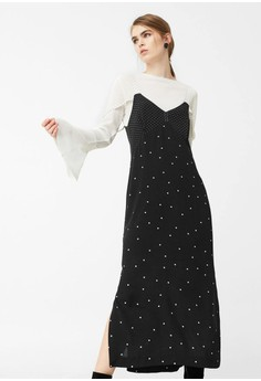 harga Polka-Dot Dress Zalora.co.id