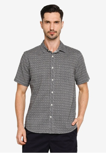 GAP black Short Sleeves Linen Cotton Shirt C69F3AA8A21ACFGS_1