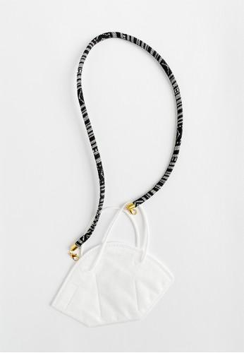 Sekouwit black Osier Gold Tali Tenun Face Mask Strap Lanyard or Chain (Tali Masker) in Black 66F26ES59D0473GS_1