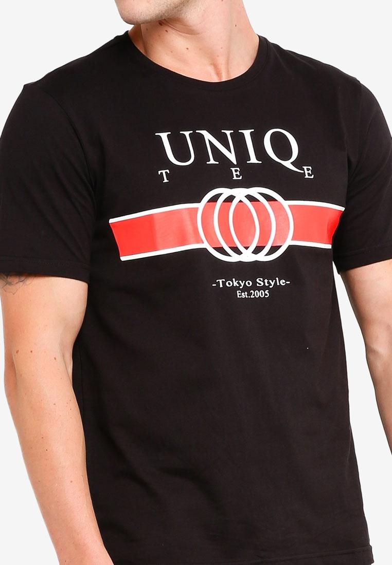 Logo Black S9hirt Printed T UniqTee Pn7rfpwxnq