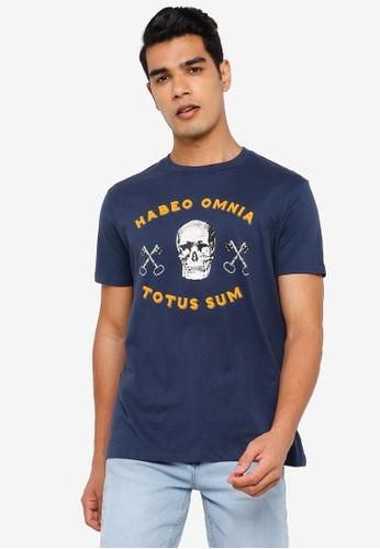Springfield blue Skull T-Shirt 689F0AA35E17DEGS_1