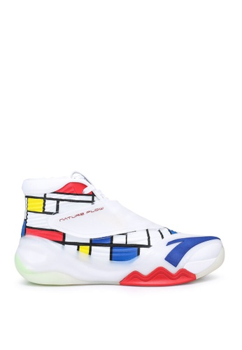 Anta white and multi KT6 Basketball Shoes 141C3SH094496AGS_1