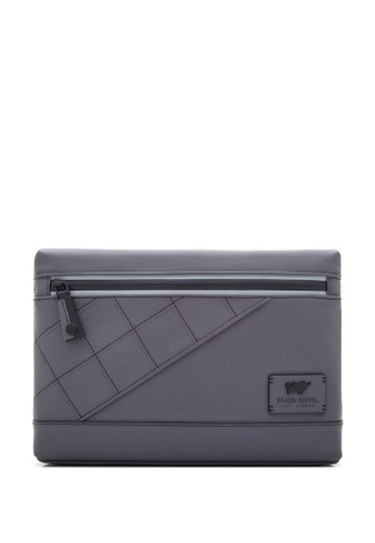 Braun Buffel grey Danny-S Large Clutch Bag 6AD52AC10EDC24GS_1