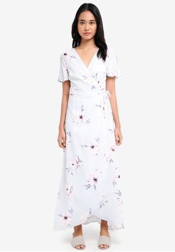 1f5eb4a310cd Shop Something Borrowed Slit Sleeve Wrap Maxi Dress Online on ZALORA ...