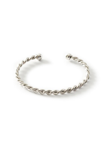 Gung Jewellery silver Daryn Twisted Cuff in Silver 3A857ACA4852D8GS_1
