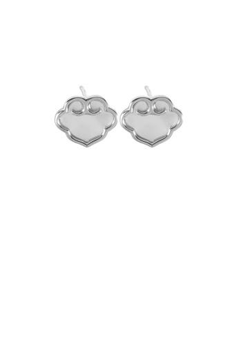 Glamorousky silver 925 Sterling Silver Simple Vintage Ruyi Lock Shell Stud Earrings 8C24DAC645F1DDGS_1