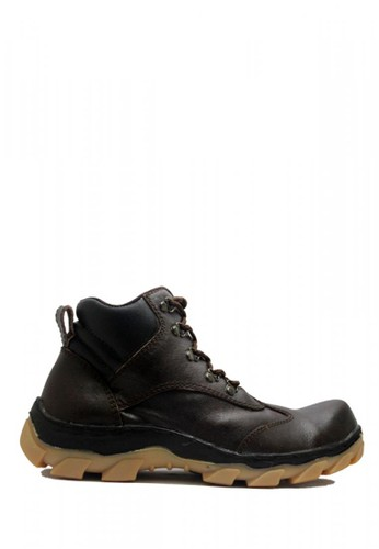 Cut Engineer brown Cut Engineer Safety Boots Steel Genuine Leather Dark Brown F3DCESH50DED45GS_1