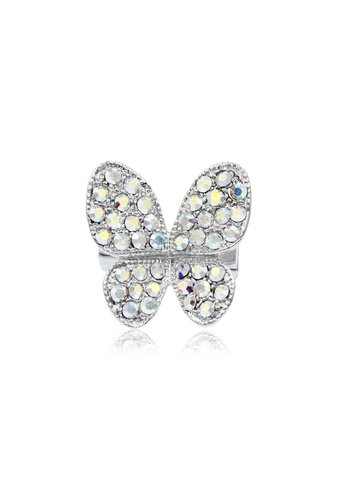 SO SEOUL silver Sparkly Butterfly Brooch FF9A2AC4D14DC8GS_1