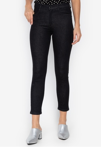 MARKS & SPENCER black Mid Rise Skinny Leg Jeans 3961CAA2AA38AAGS_1