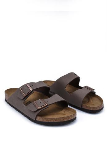 Birkenstock 褐色 Arizona Birko-Flor Nubuck Sandals BI090SH34CSFMY_1