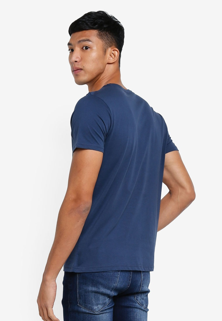 T Mood OVS Indigo Shirt Graphic TpqR4q