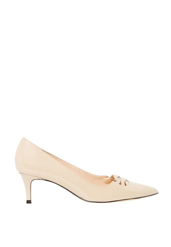 Nina Armando beige Jazz Patent Leather low Heel NI342SH0FV43SG_1