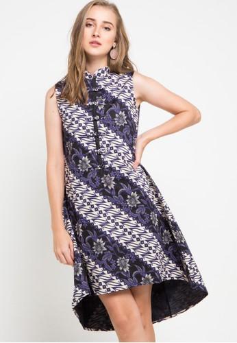 Rianty Batik purple and multi Dress Nafisa 5903DAA3BE2F44GS_1