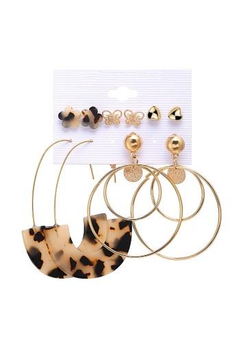 Glamorbit multi Acrylic Hoop Earrings Set DB51BAC21D7CF3GS_1