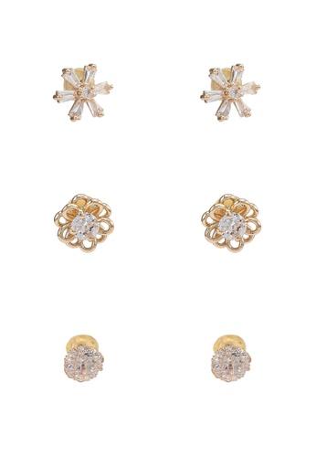 ALDO gold Cilisa Pierced Earrings 4E6B6ACE4D0A4EGS_1