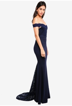 869bf8dd4e 42% OFF MISSGUIDED Bridesmaid Bardot Lace Fishtail Maxi S  94.90 NOW S   54.90 Sizes 6