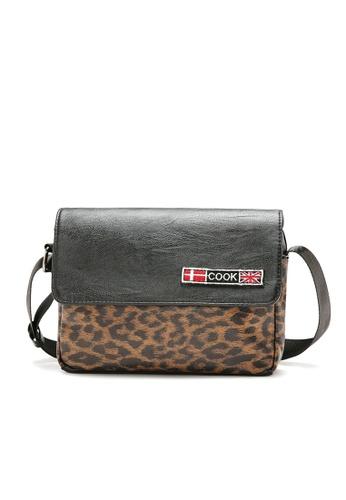 Lara multi Men's Leopard Print Messenger Bag 971E5AC34E8FE6GS_1
