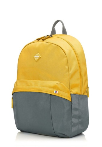 American Tourister grey and yellow American Tourister Rudy Backpack 1 03D88ACC8E75DFGS_1