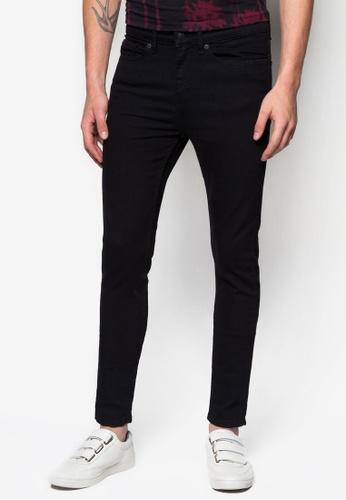 Topman 黑色 Black Spray On Skinny Jeans TO250AA27CWYSG_1