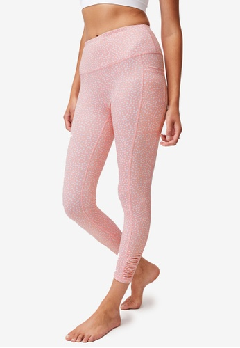 Cotton On Body pink Love You A Latte 7/8 Active Tights CA459AA420A5F6GS_1