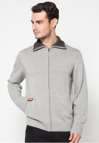 Noir Sur Blanc grey Mens Card Jacket W/Zipper NO321AA08DPJID_1