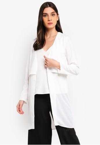 ZALORA 白色 層次罩衫 ADD56AA69A265EGS_1