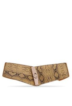 Wide Garterized Belt, Snake Skin Design