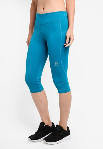 Odlo blue Sliq 3/4 Tights E4D5AAA69D4054GS_1