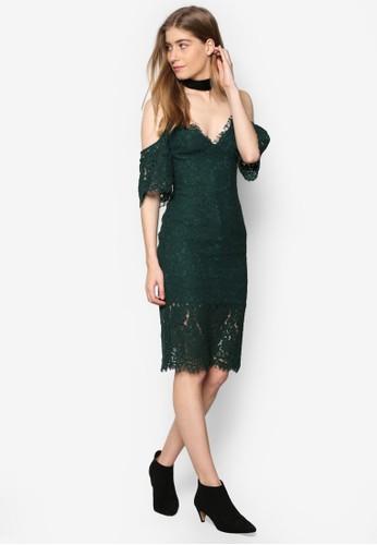 esprit 請人Carrie 蕾絲挖肩低胸洋裝, 服飾, 洋裝