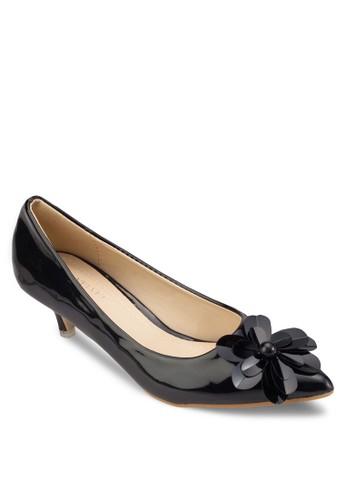 Oesprit 台北ccasion 花飾尖頭中高跟鞋, 女鞋, 鞋