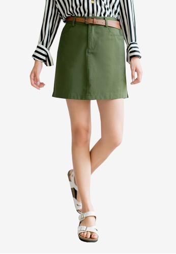 Tokichoi green High Waist Skirt A2C72AA6CD51D8GS_1