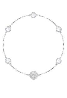 jual elli germany 925 sterling silver kalung mutiara zirconia putih  remix strand timeless