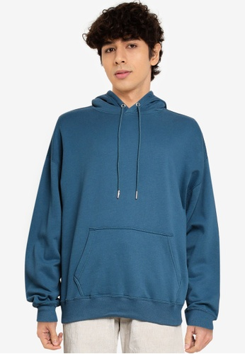 Abercrombie & Fitch blue Oversized Pullover Hoodie 34DD6AAA97A27DGS_1