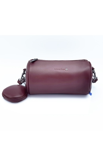 EXTREME purple Extreme Genuine Leather Cylinder Bag D51FBAC8EEA2E8GS_1