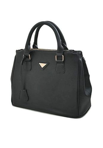 LULUGIFT black Lulugift Galleria PU Leather Shoulder Bag LU989AC79SWEMY_1