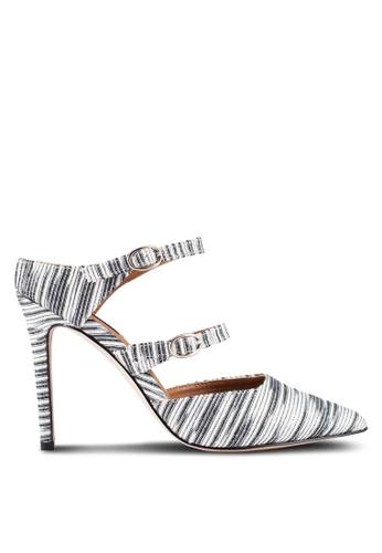 ZALORA silver Multi Strap Mule Heels C0C7DZZED09FD5GS_1