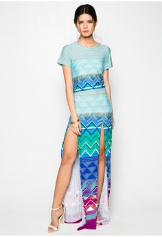 Azul Set Skirt With Slit
