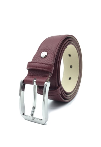 Goldlion red Premium Casual Pin Belt with Angular Buckle-B 5C995AC881688FGS_1