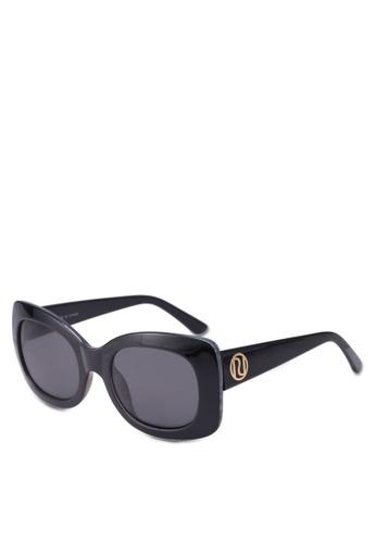 River Island black Rihanna Square Sunglasses 81488GL6CC336FGS_1