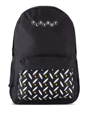 Playboy black Playboy Backpack PL371AC87WFSMY_1