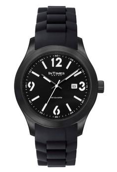 InTImes IT-1068B Analog Rubber Watch